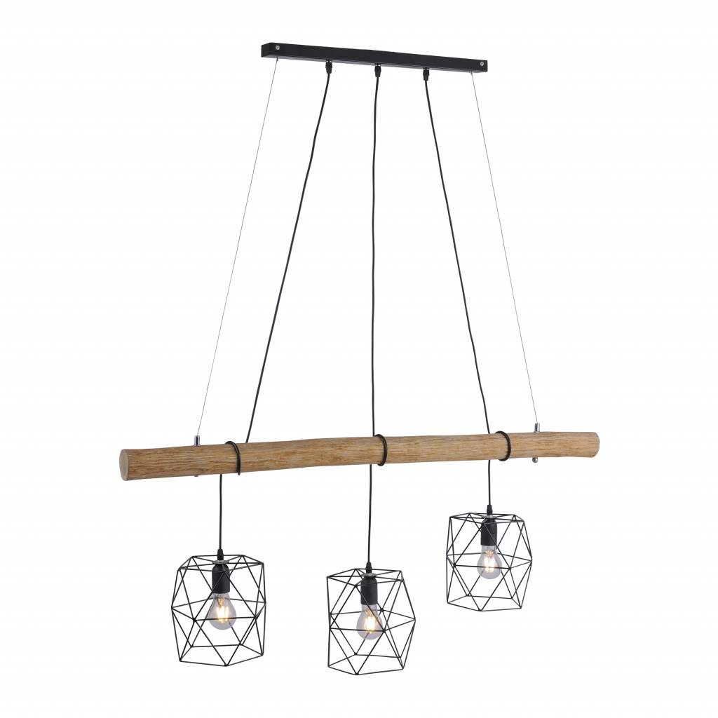 Hanglamp EDGAR Zwart 3 Lichts