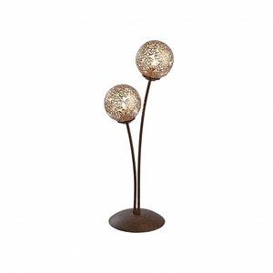 Tafellamp GRETA Roest 2 Lichts