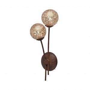 Wandlamp GRETA Roest 2 Lichts