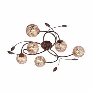 Plafondlamp GRETA Roest 6 Lichts