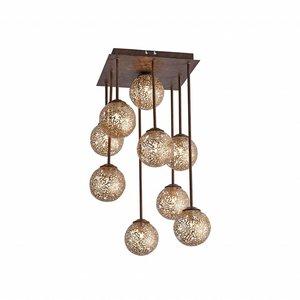 Plafondlamp GRETA Roest 9 Lichts