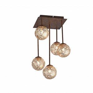Plafondlamp GRETA Roest 5 Lichts