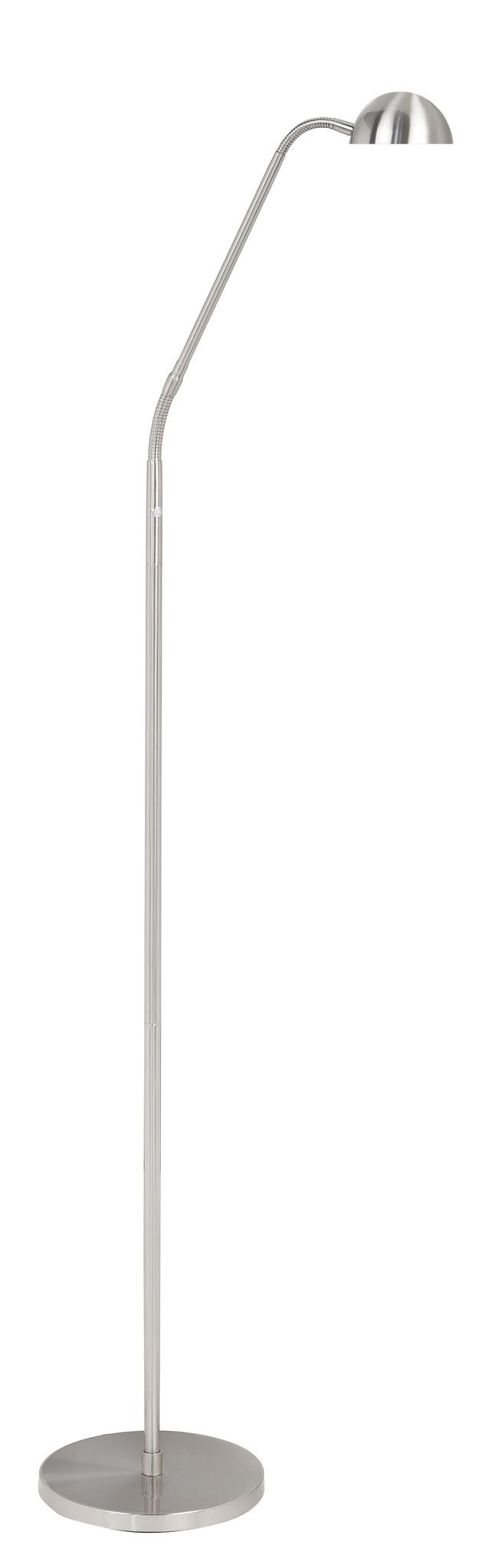 Vloerlamp Parma RVS Led incl. Dimmer