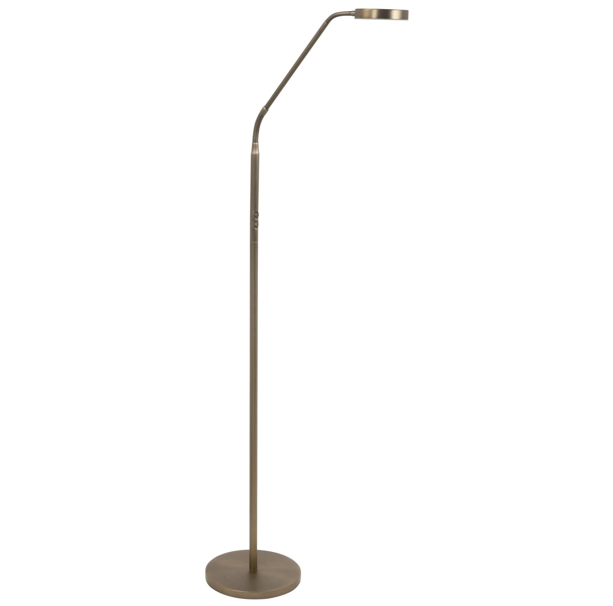 Vloerlamp Comfort Brons Led incl. Dimmer