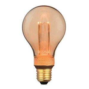 E27 5Watt Led Gold 75mm incl. Stappen Dimmer