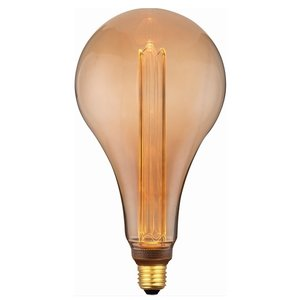 E27 5Watt Led Gold 168mm incl. Stappen Dimmer