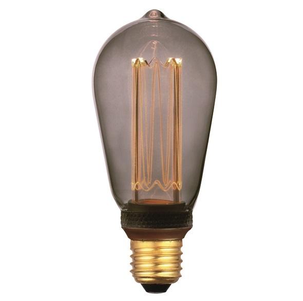 Smoke Juwel LED light Edison 5W lumen E27