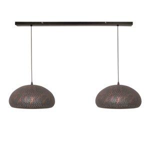Hanglamp Fori  Bruin 2 Lichts 40cm
