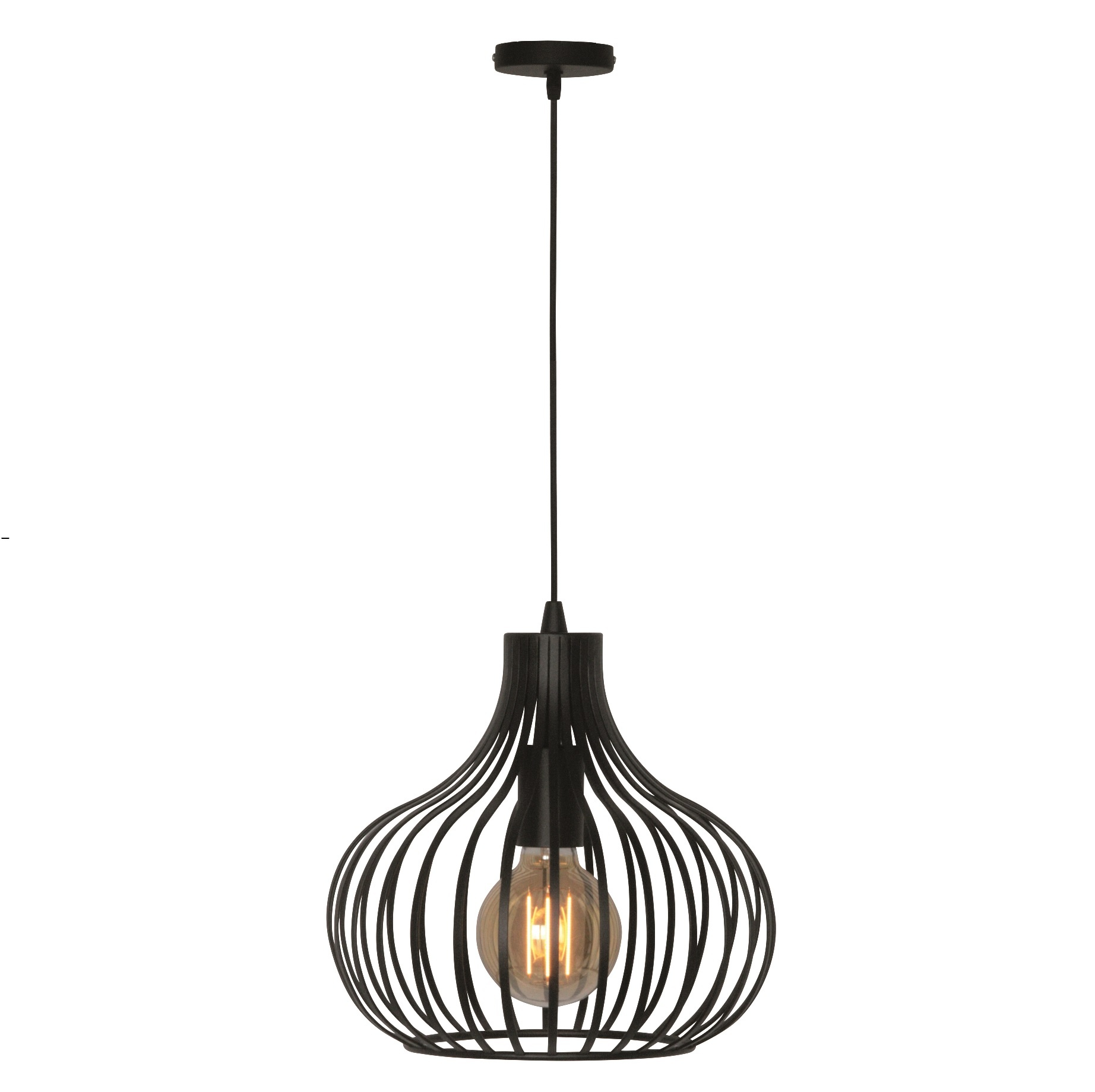 Hanglamp Aglio 28 cm Zwart