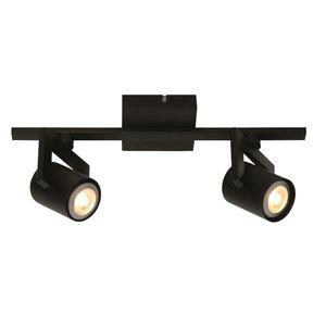 Spot Valvoled LED Zwart 2 Lichts