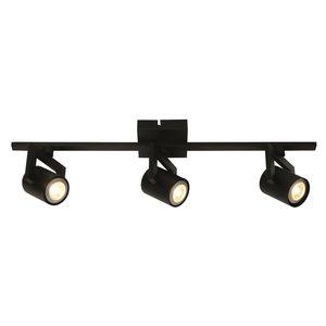 Spot Valvoled LED Zwart 3 Lichts