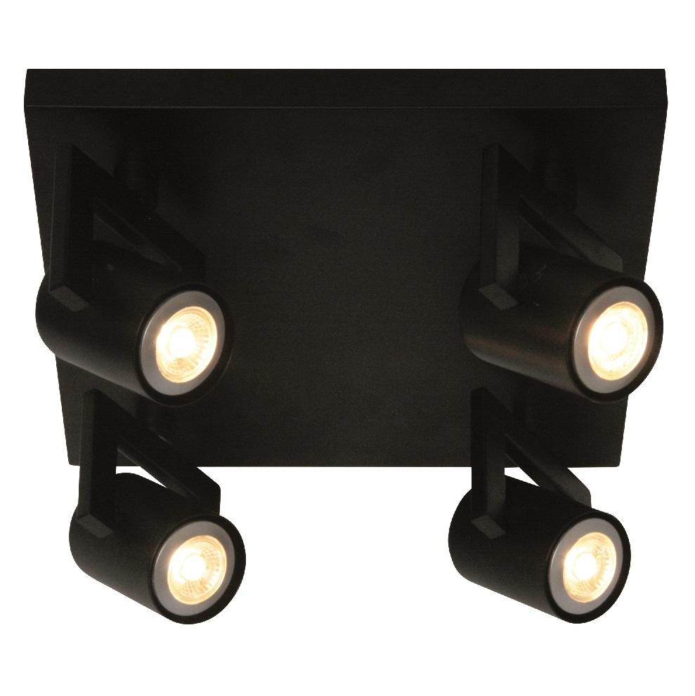 Spot Valvoled LED Zwart 4 Lichts