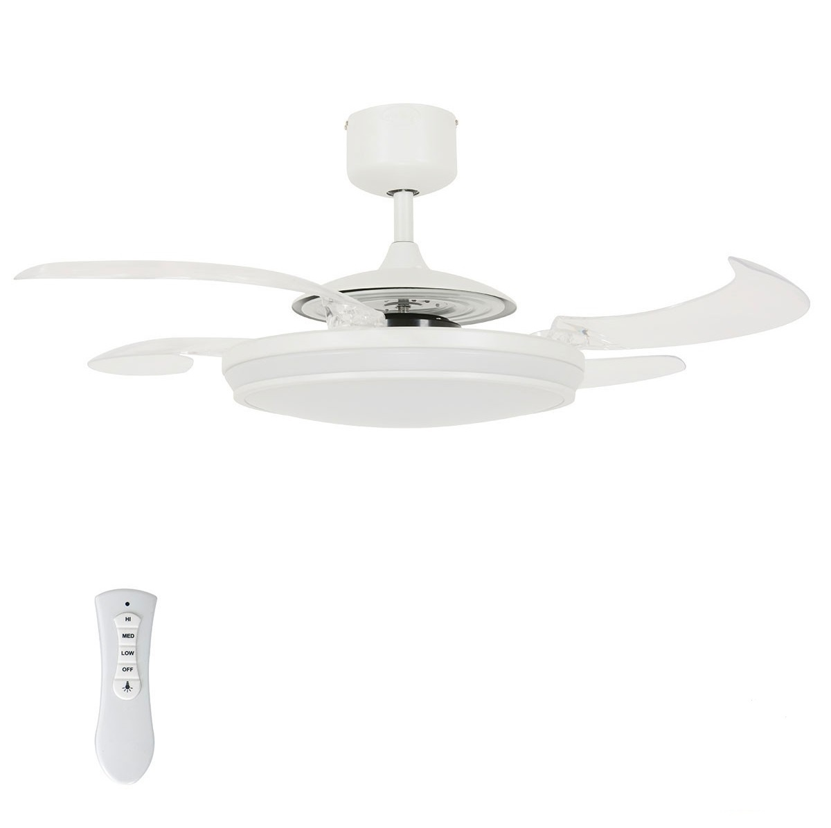 Lucci Plafondventilator Fanaway LED White 121cm