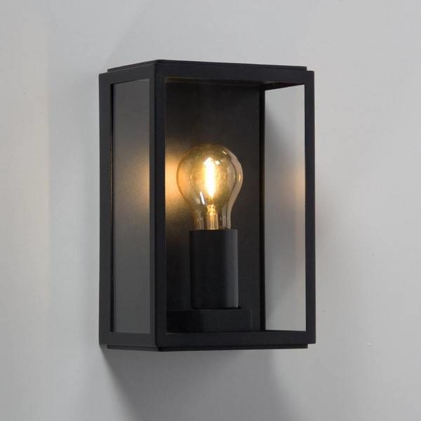 Artdelight Buitenlamp Rowin Zwart 25cm