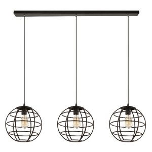 Hanglamp Pianeta Zwart Goud 27cm