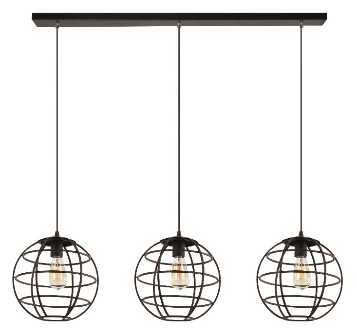 Hanglamp Pianeta Zwart Goud 27cm 3Lichts