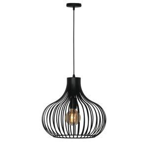 Hanglamp Aglio Mat Zwart 38cm