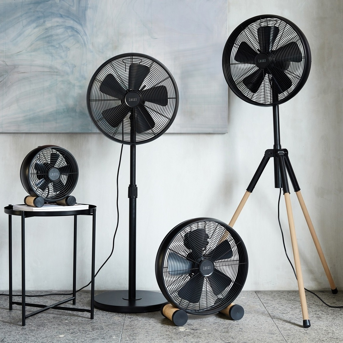 Lucci Ventilator Breeze Tripod Black 41cm