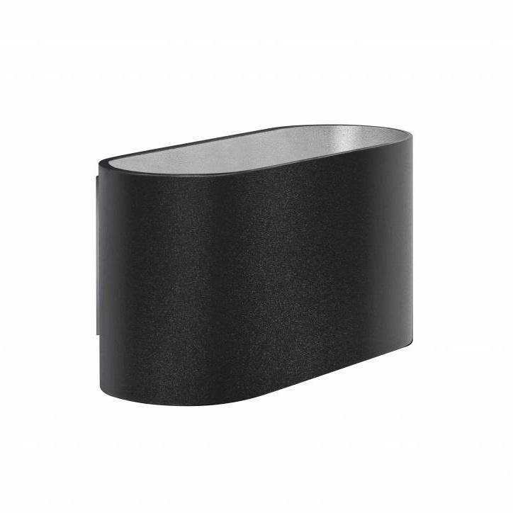 Wandlamp Oval Zwart G9 16CM