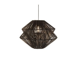 Hanglamp Laut Rotan Zwart 40cm