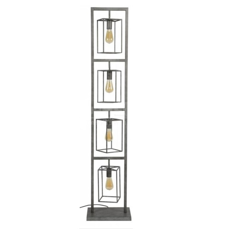 Vloerlamp Tower Old Silver 160cm