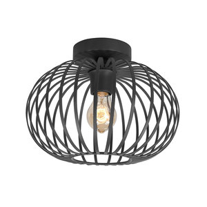 Plafondlamp Aglio Mat Zwart 25cm