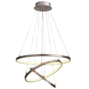 Hanglamp Cirkels RVS Led incl. Dimmer 60cm Ø