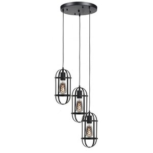 Hanglamp Longo Mat Zwart 3 Lichts