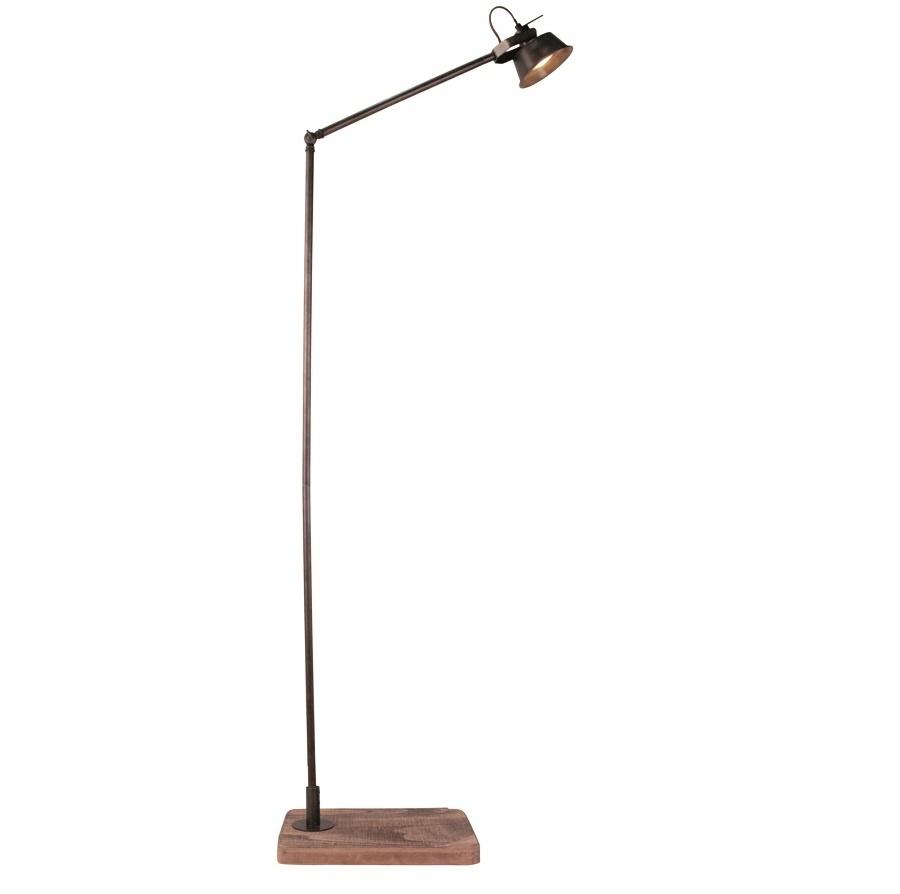 Vloerlamp Vintage Black Steel GU10 Led