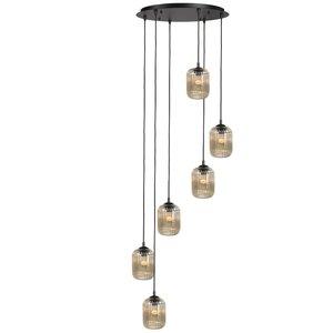 Hanglamp Castel Amber 6 Lichts 50cm Ø