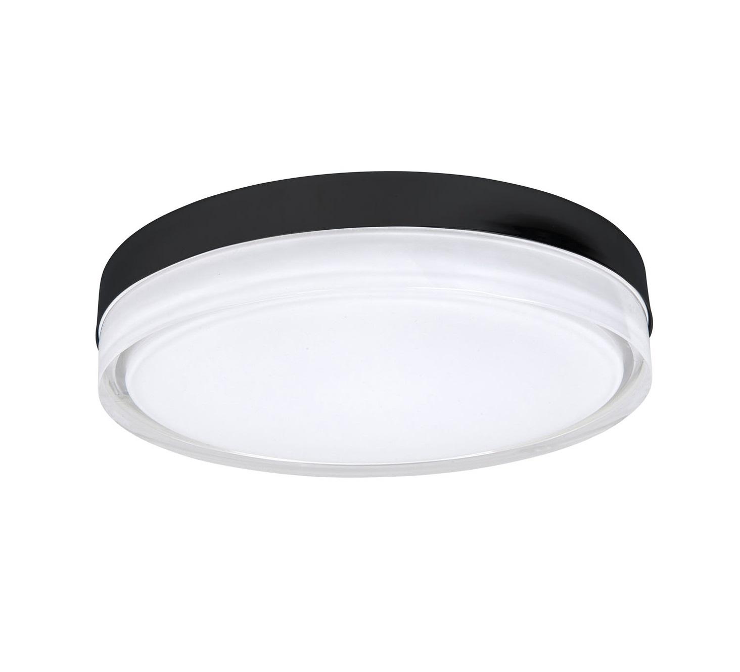 Plafondlamp Disc Mat Zwart 28cm IP44