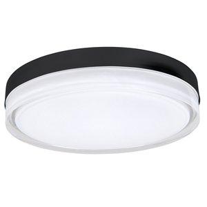 Plafondlamp Disc Mat Zwart 35cm IP44