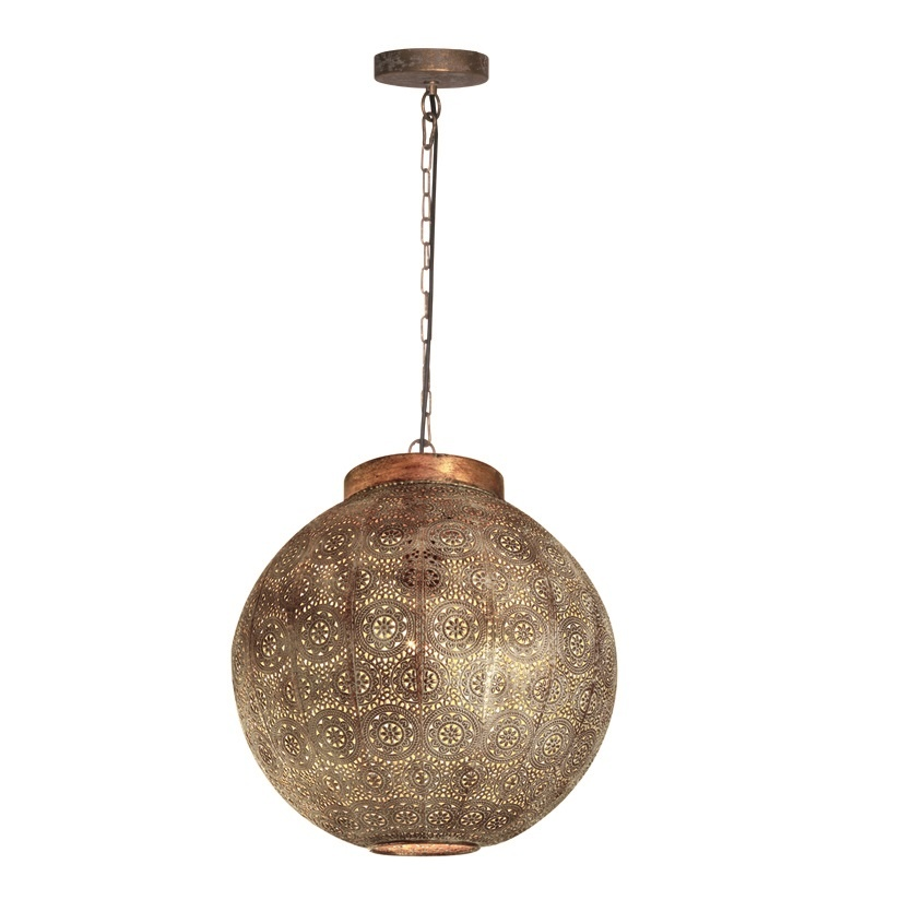 Hanglamp Motivo Antiek Goud & Wit Ø 50cm