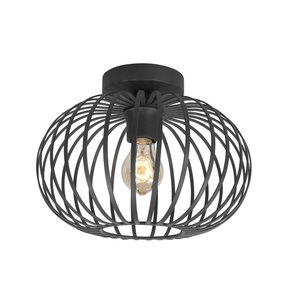 Plafondlamp Bolato Zwart 30cm