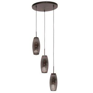 Hanglamp Bordo Smoke 3 Lichts
