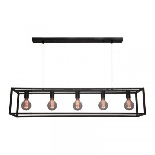 Hanglamp Esteso Mat Zwart 120cm