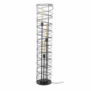 Vloerlamp Spiraal Cilinder Charoal 140cm