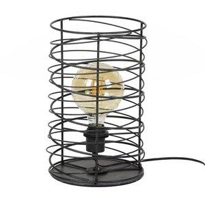 Tafellamp Spiraal Cilinder Charoal 36cm