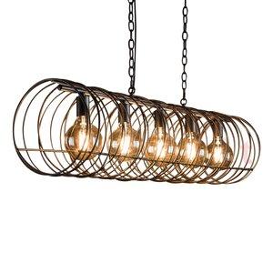 Hanglamp Spiraal Cilinder Charoal 120cm