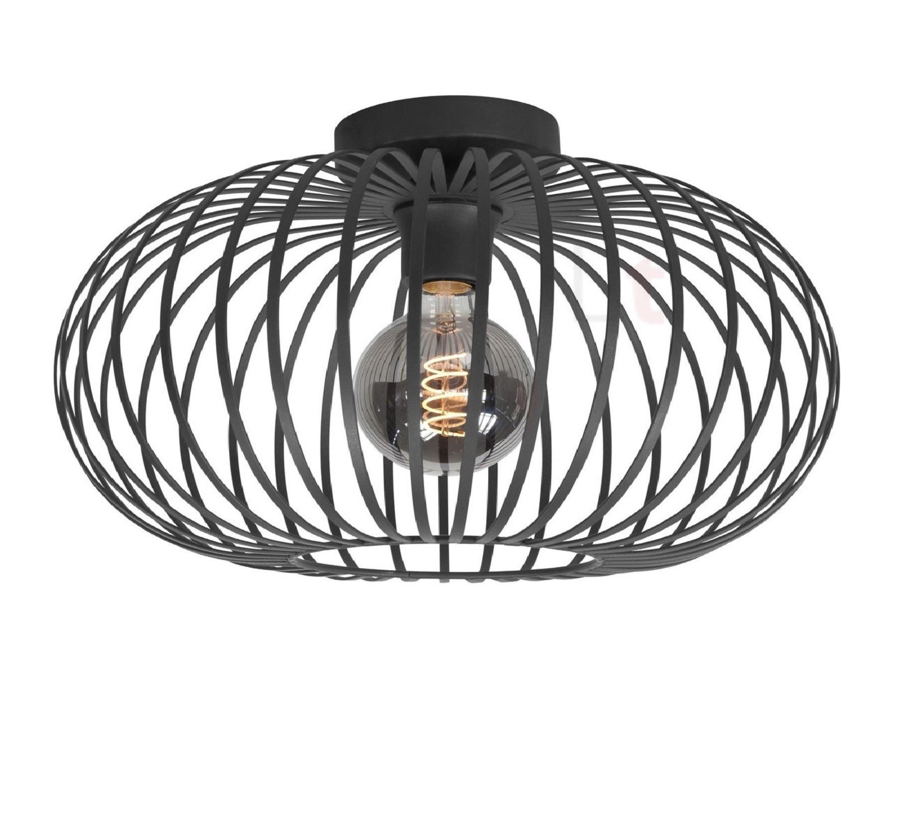 Plafondlamp Bolato Zwart 50cm