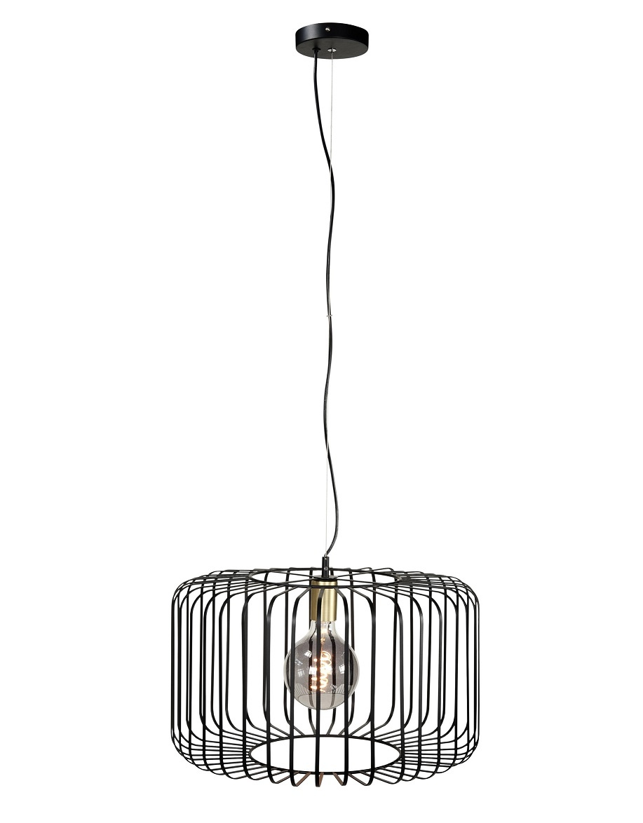 Hanglamp Lucca Zwart 50cm