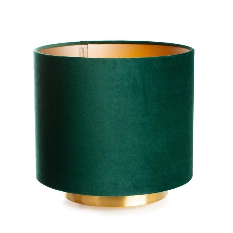 Op Design & Trends: Alles voor de inrichting van uw woning is alles over licht te vinden: waaronder lampentoppers en specifiek Tafellamp Hollywood Velours Forest Green 25cm Ø