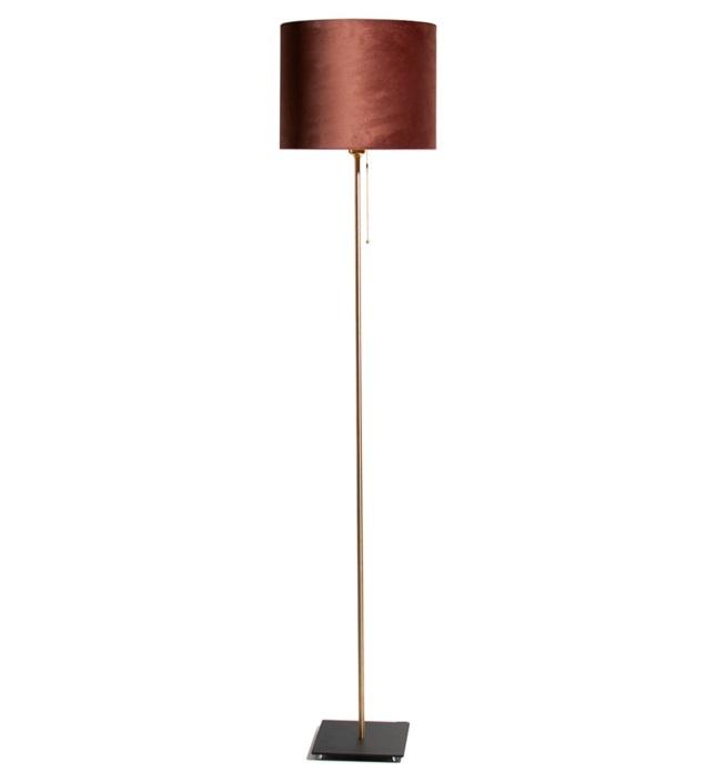 Vloerlamp Bardot Velours Chocolate Brown 165cm