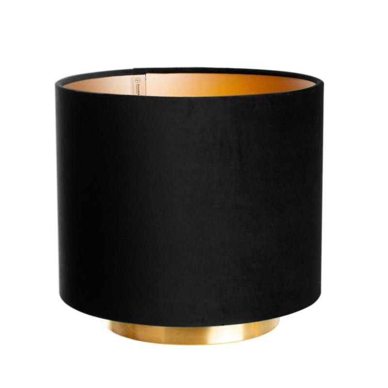 Tafellamp Hollywood Velours Dark Secret Black 25cm Ø