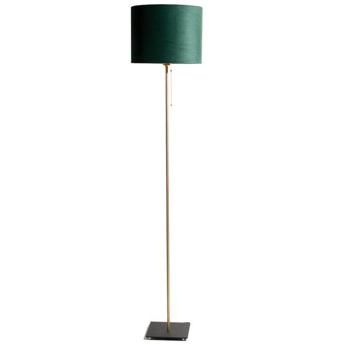Vloerlamp Bardot Velours Forest Green 165cm