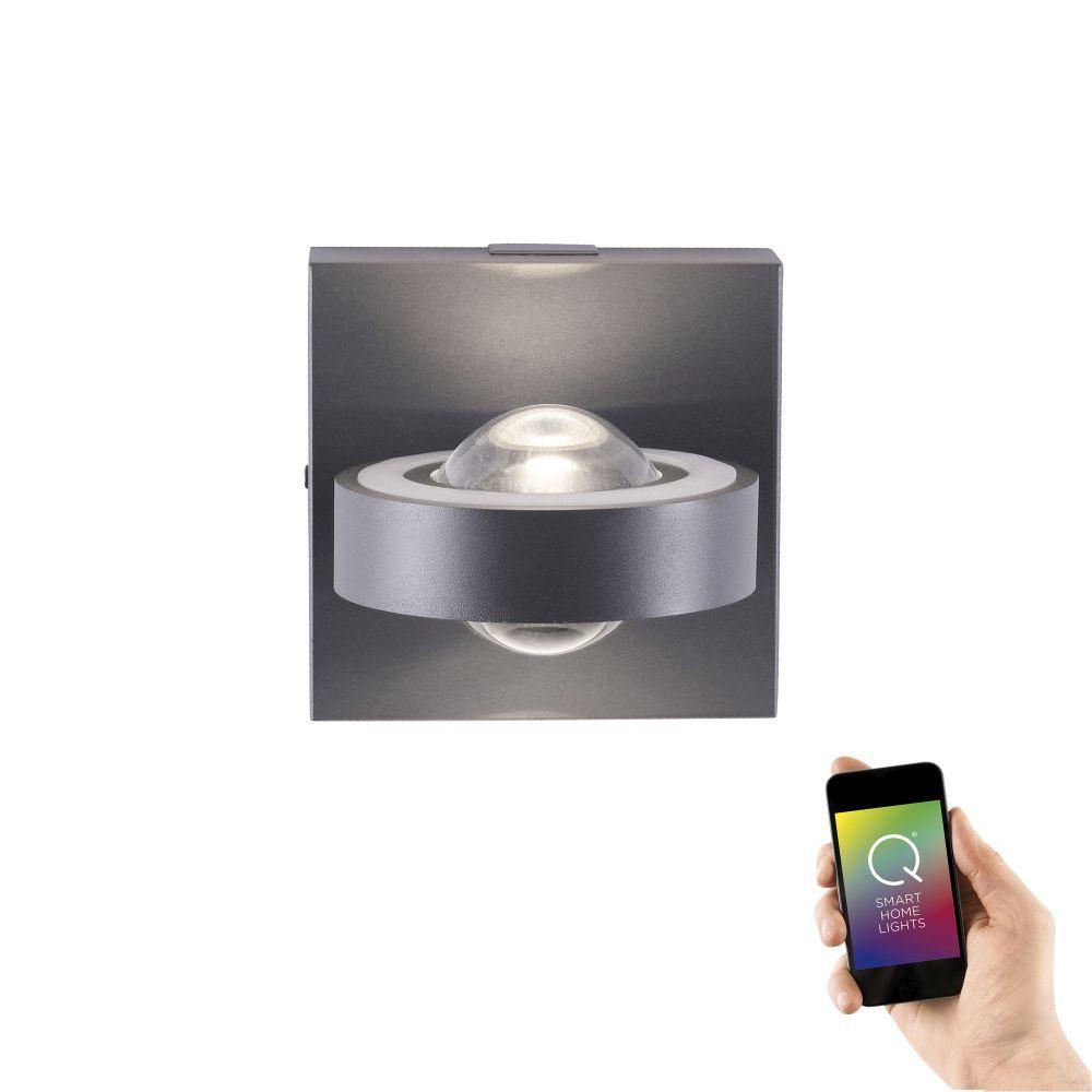Wandlamp Q-MIA Antraciet Led Smart Home