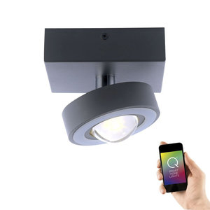 Plafondlamp Q-MIA Antraciet Led Smart Home