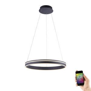 Hanglamp Q-Vito 59cm Antraciet Smart Home