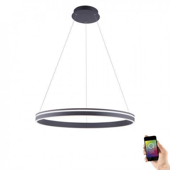Hanglamp Q-Vito 80cm Antraciet Smart Home