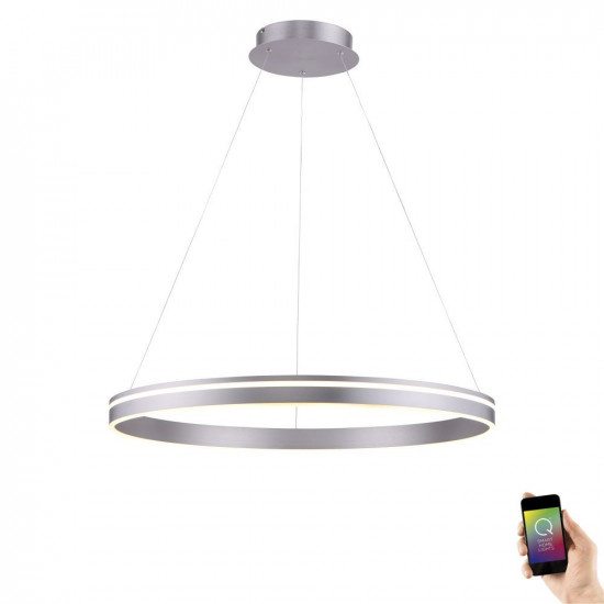 Hanglamp Q-Vito 80cm Staal Smart Home